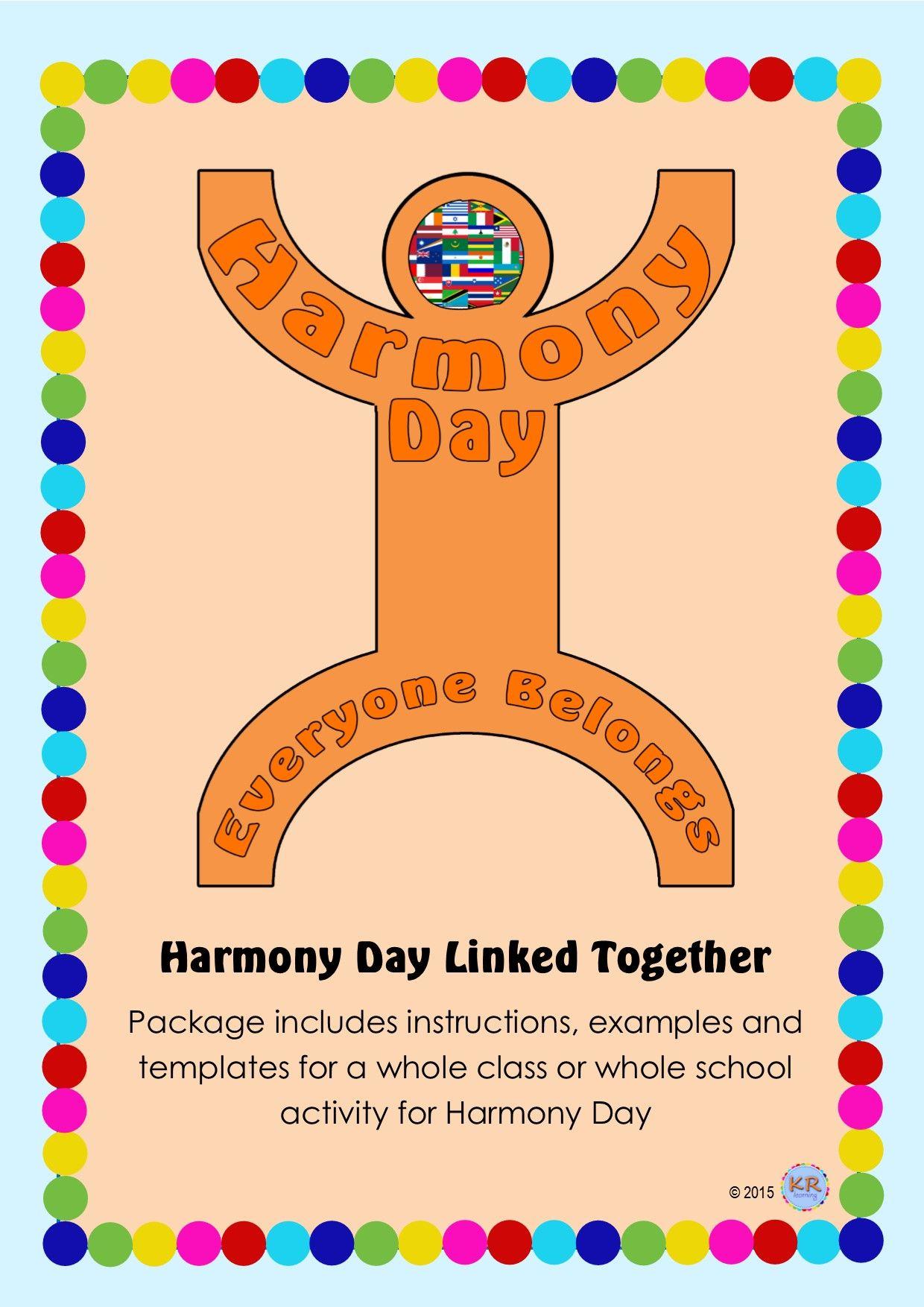 Harmony Day Everyone Belongs Celebration Linked Together