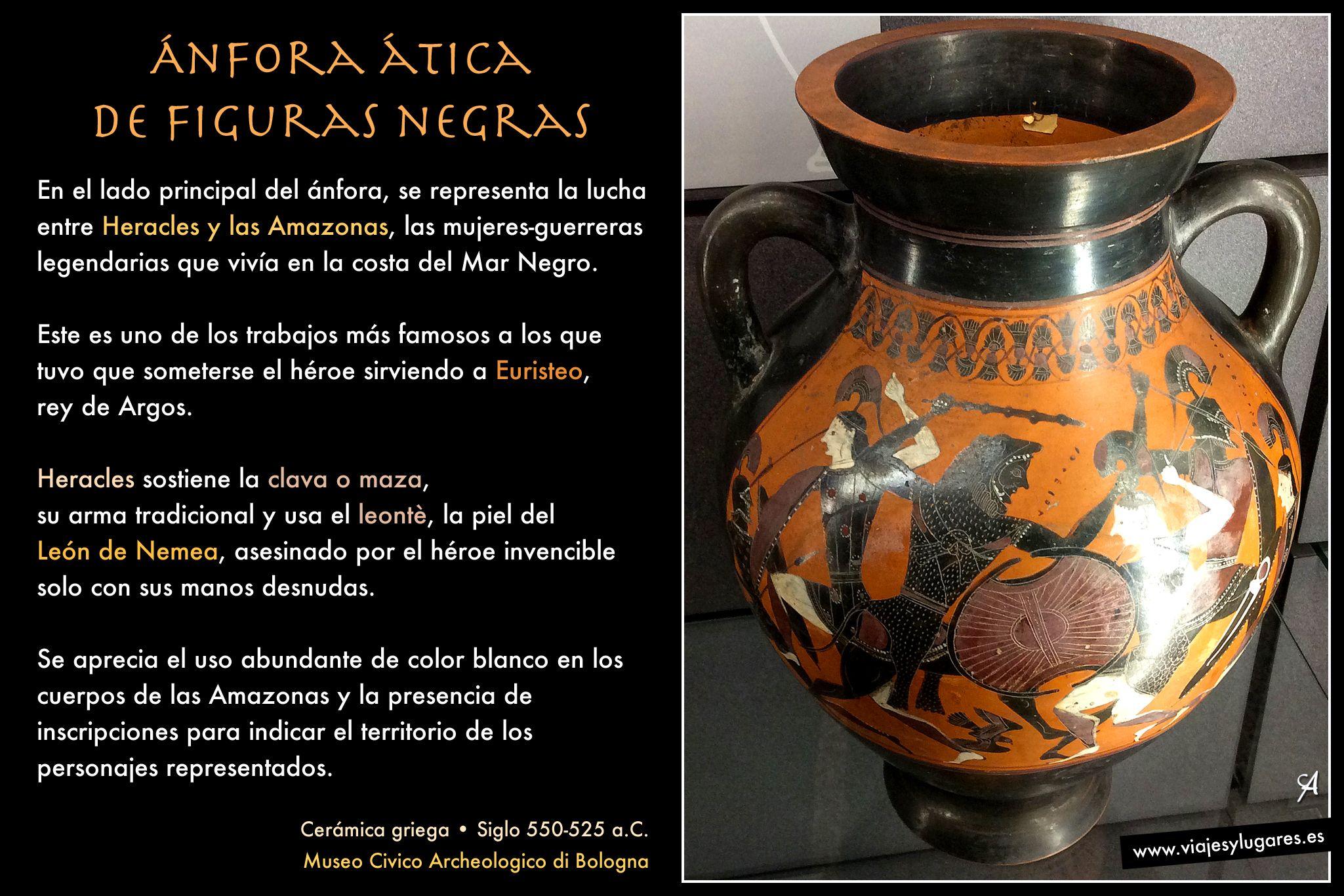 Nfora de heracles cer mica tica de figuras negras for Figuras ceramica