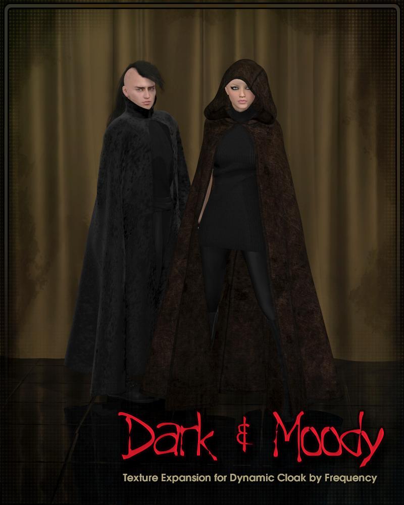 Dark & Moody for Dynamic Cloak // Poser Renderosity 3D | Frequency3D