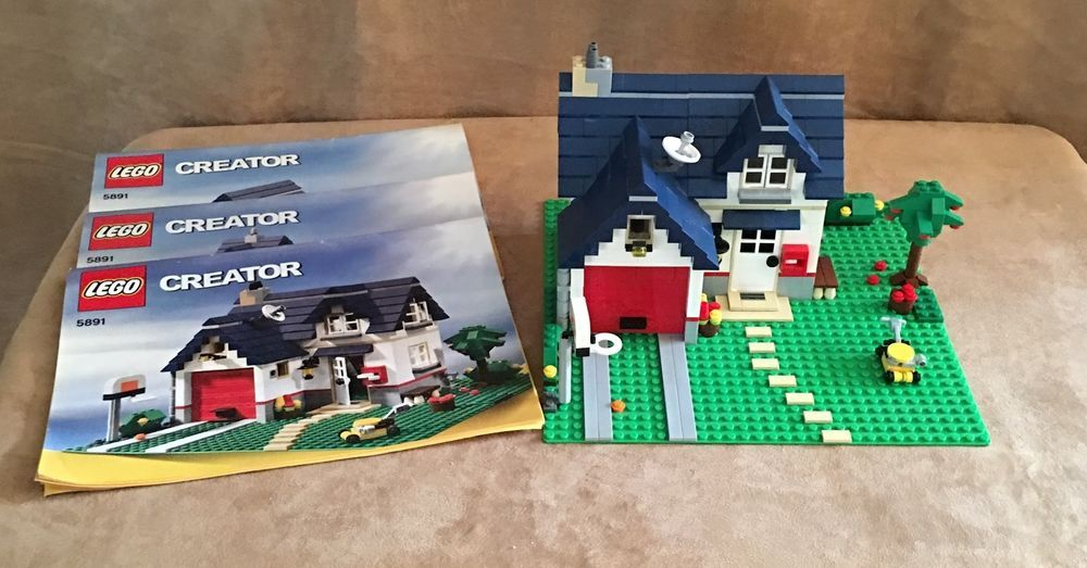 5891 Lego Creator Apple Tree House Complete Three In One Instruction