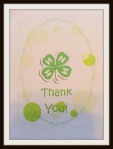 Printable 4h Thank You Notes Thank You Notes 4 H Thank You Cards