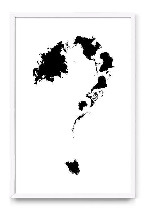 Question Mark Question Mark World Map Environment Graphic Design Design Black And White Future Question Mark This Or That Questions Black Wallpaper