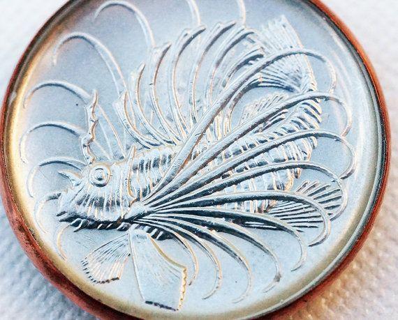 Lionfish Coin Pendant Coin Pendant Copper Foil Copper Sheets