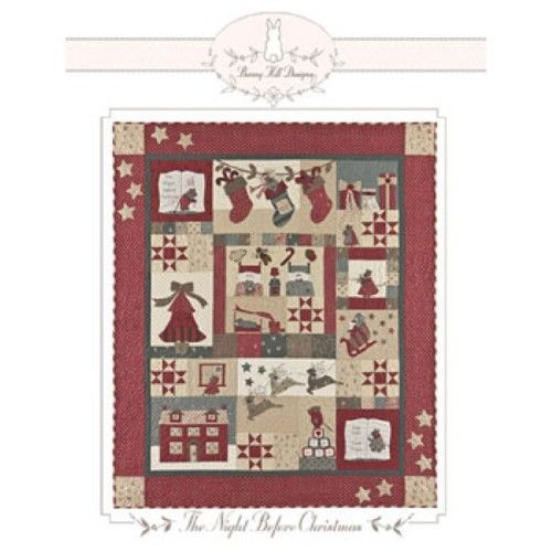 Bunny Hill Designs The Night Before Christmas Quilt Pattern Ebay Christmas Quilt Patterns Christmas Quilts Quilts