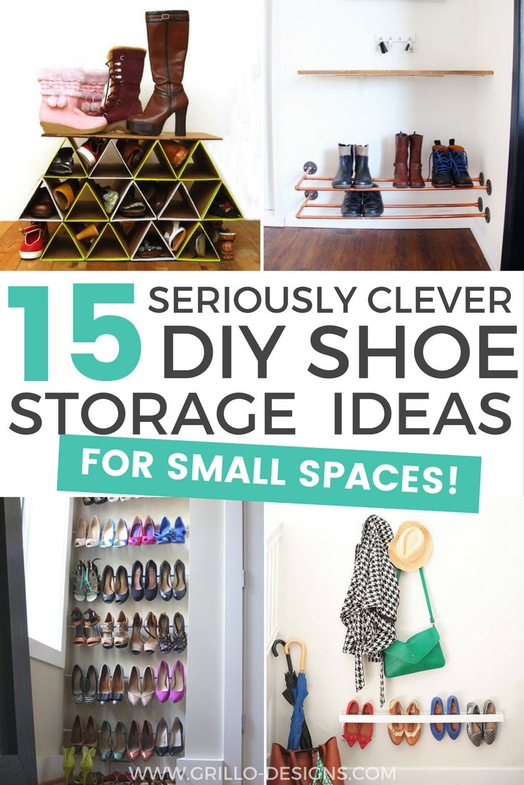 15 Clever Diy Shoe Storage Solutions For Small Spaces Diy Shoe