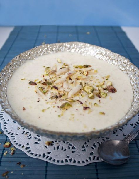 Kheer...Indian rice pudding. I love this so much.... made ...
