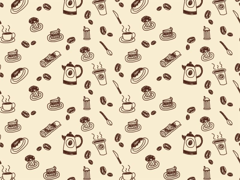 Love This Paper Coffee Cup Drawing Wallpaper Seamless Shop Wallpaper Coffee house wallpaper free download