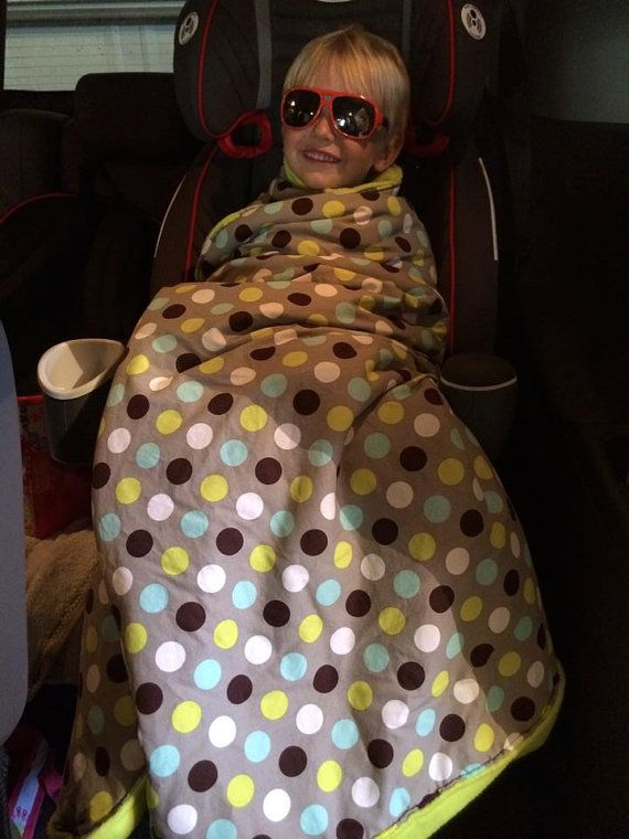 Toddler Car Seat Blanket For Convertible Or By PenguinSisters
