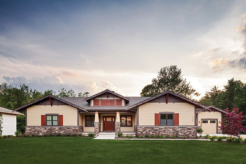 Craftsman Style House Plan 3 Beds 2 5 Baths 3641 Sq Ft Plan 928 266