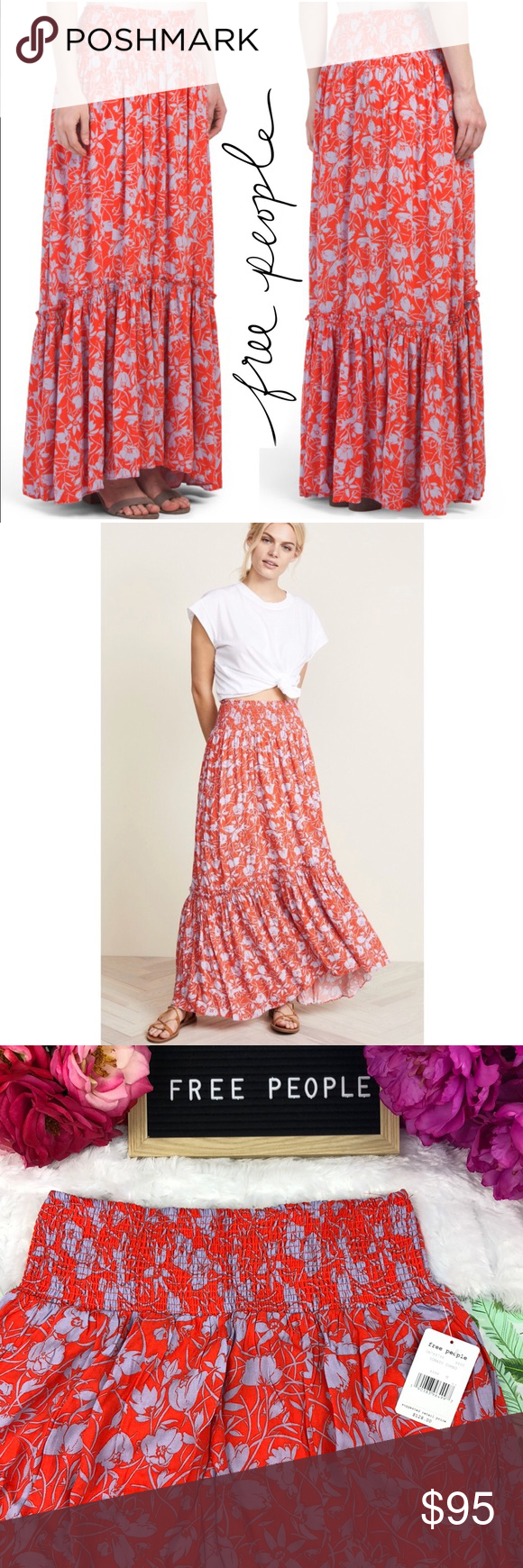 4a4e6d7de7 Free People} Floral Way Of The Wind Maxi Skirt NWT in 2018 | My Posh ...