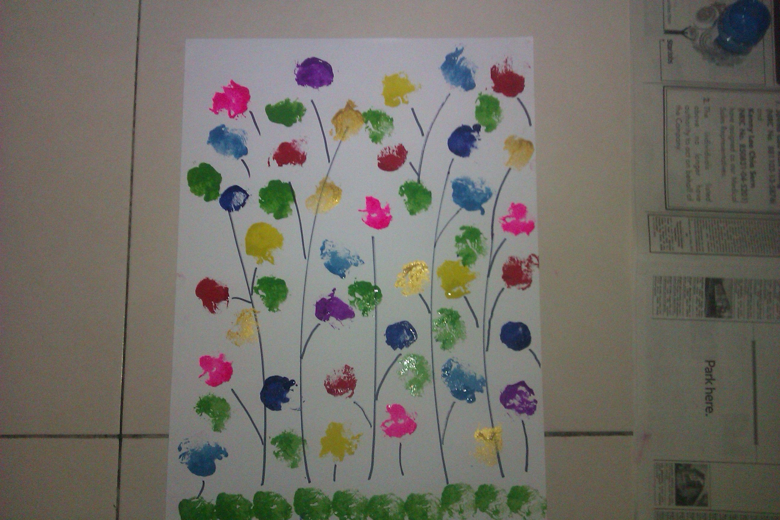 Beautiful Simple Flower Garden Paintings Simple Flower 400 x 300
