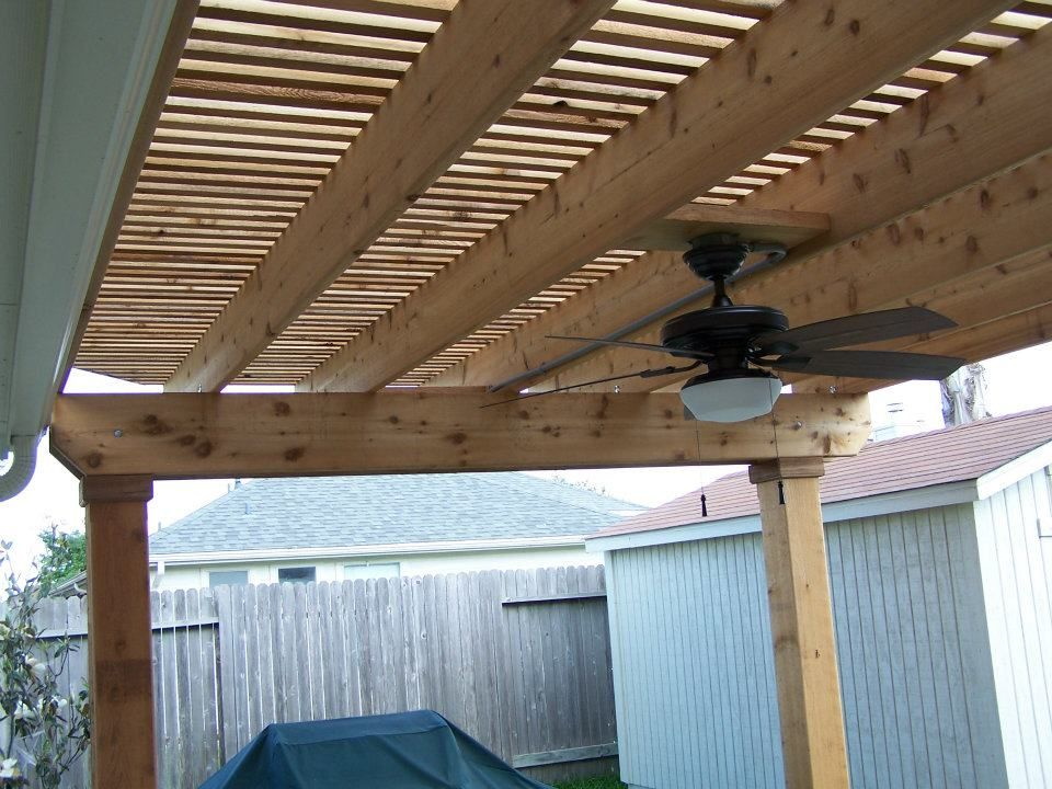 covered pergola with ceiling fan - Google Search - Covered Pergola With Ceiling Fan - Google Search Deck/Outdoors