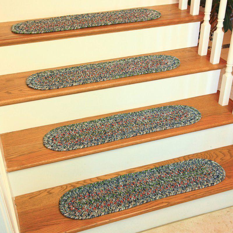 Rhody Rug Sophia Reversible Braided Stair Treads (Set Of   8 X 28 (Grey)  (Polypropylene, Solid)