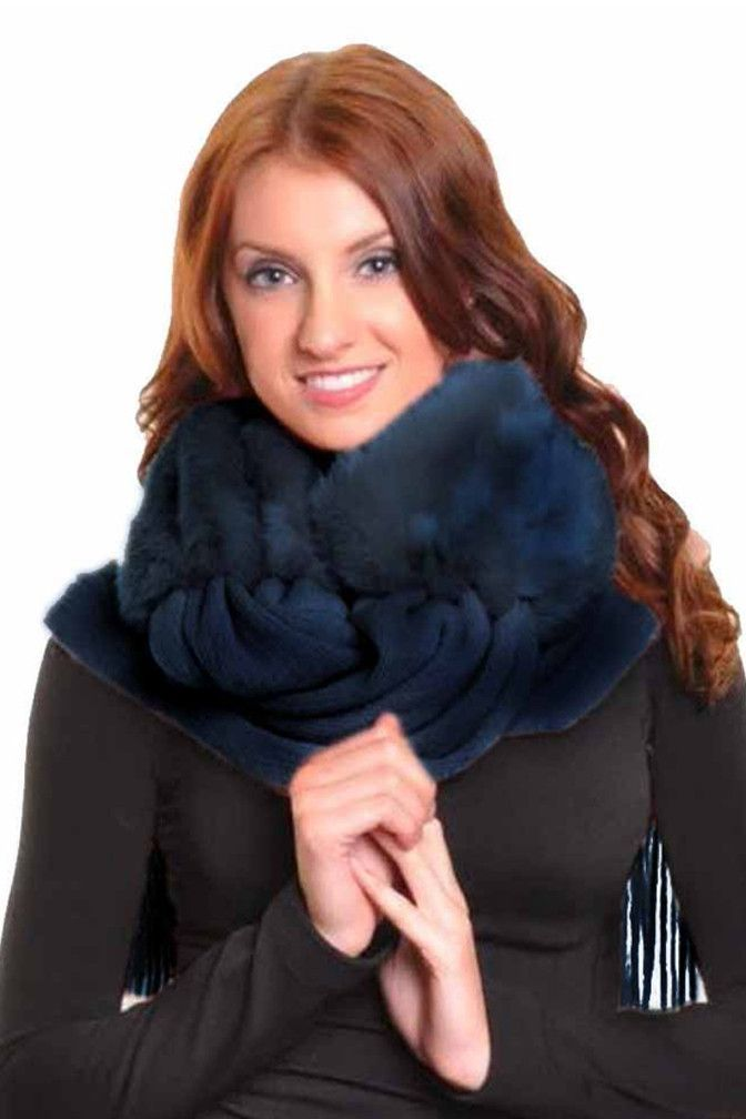 Faux Fur Scarf With Long Fringe