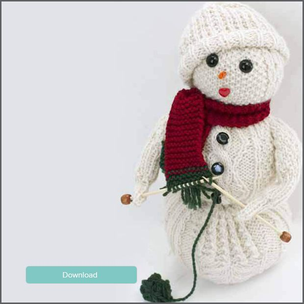 12 Weeks of Christmas Knitting: Knit your own Snowman | Free ...