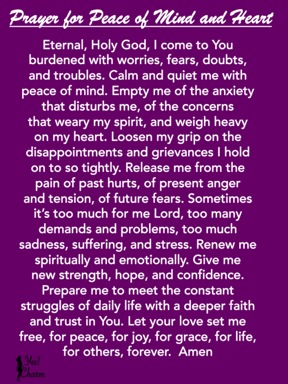 Catholic prayer for stress