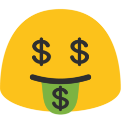 Money Mouth Face On Google Android 7 1 Face Mouth Emoji