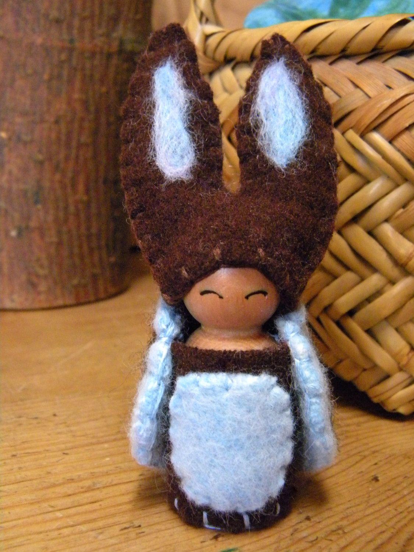 Waldorf Bunny Peg Doll