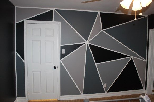 Bedroom Makeover Part 3 How To Paint A Feature Wall Cindy Roy Decoracao Quarto E Sala Decoracao De Parede Facil Pintura Das Paredes Dos Quartos