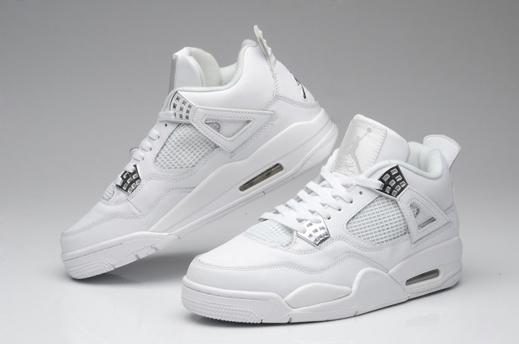 94b5cfee6693 50 € 2015 AIR JORDAN 4 Space leather NIKE Shoes Mens Air cushion soles Retro  All white
