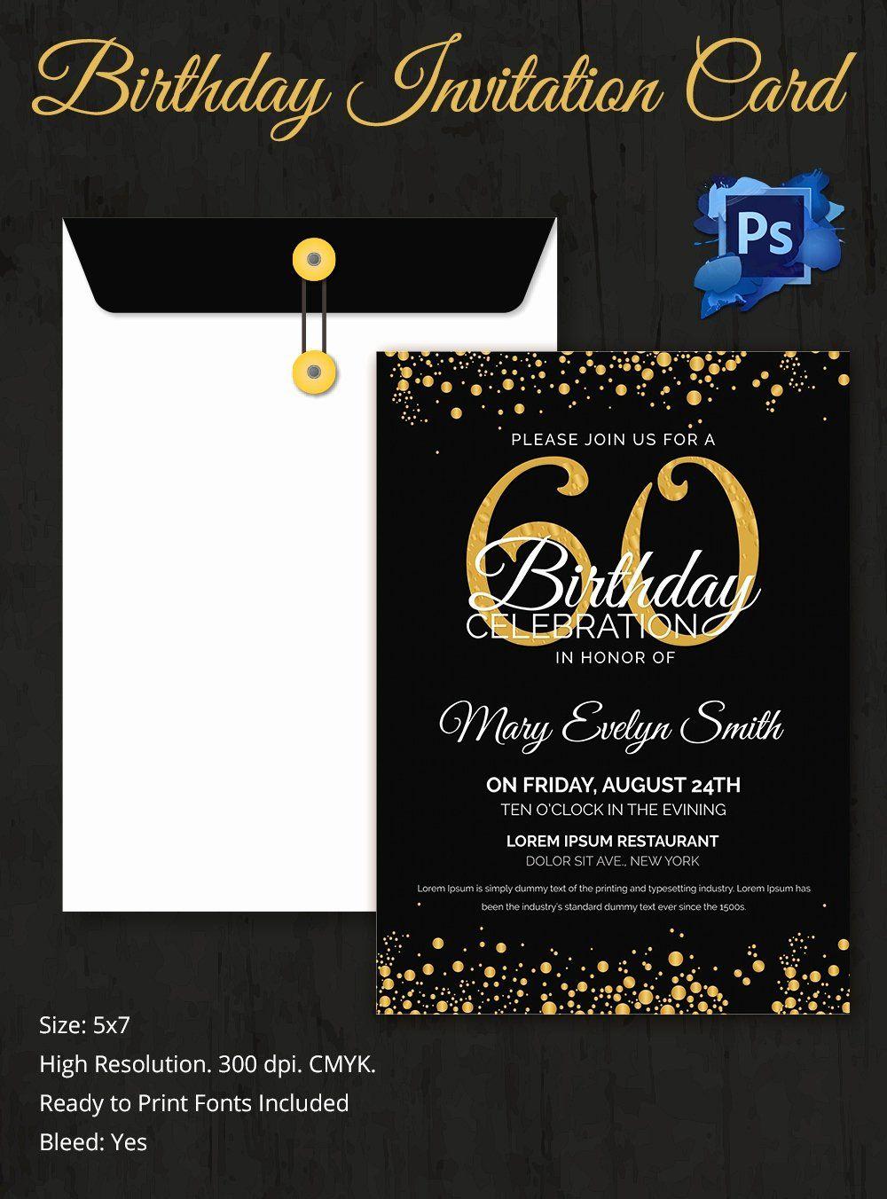 Editable 1st Birthday Invitation Card Free Download Beautiful Birthday Invitation Tem Party Invite Template 60th Birthday Invitations Free Birthday Invitations