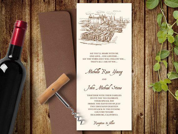 Wine Wedding Invitation Template Country By Shishko