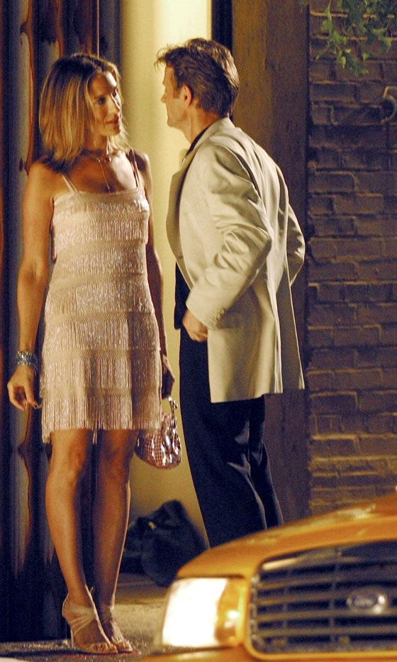 I have a black one from the 20's, my grandmothers. Love this white version. Carrie Bradshaw With Alexander Petrovsky, Season 6