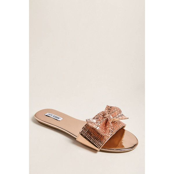 508ec4c4217f8 Forever21 Faux Gem Patent Leather Slide Sandals ( 25) ❤ liked on Polyvore  featuring shoes