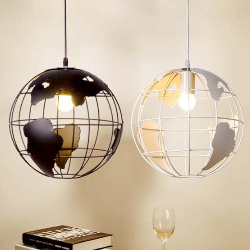 Tellurion Globe Pendant Light Sun Run Creative Ceiling Lamp Hanging Wiring Further Lights Wires Along With Metal Wire Cage Chandelier For Children