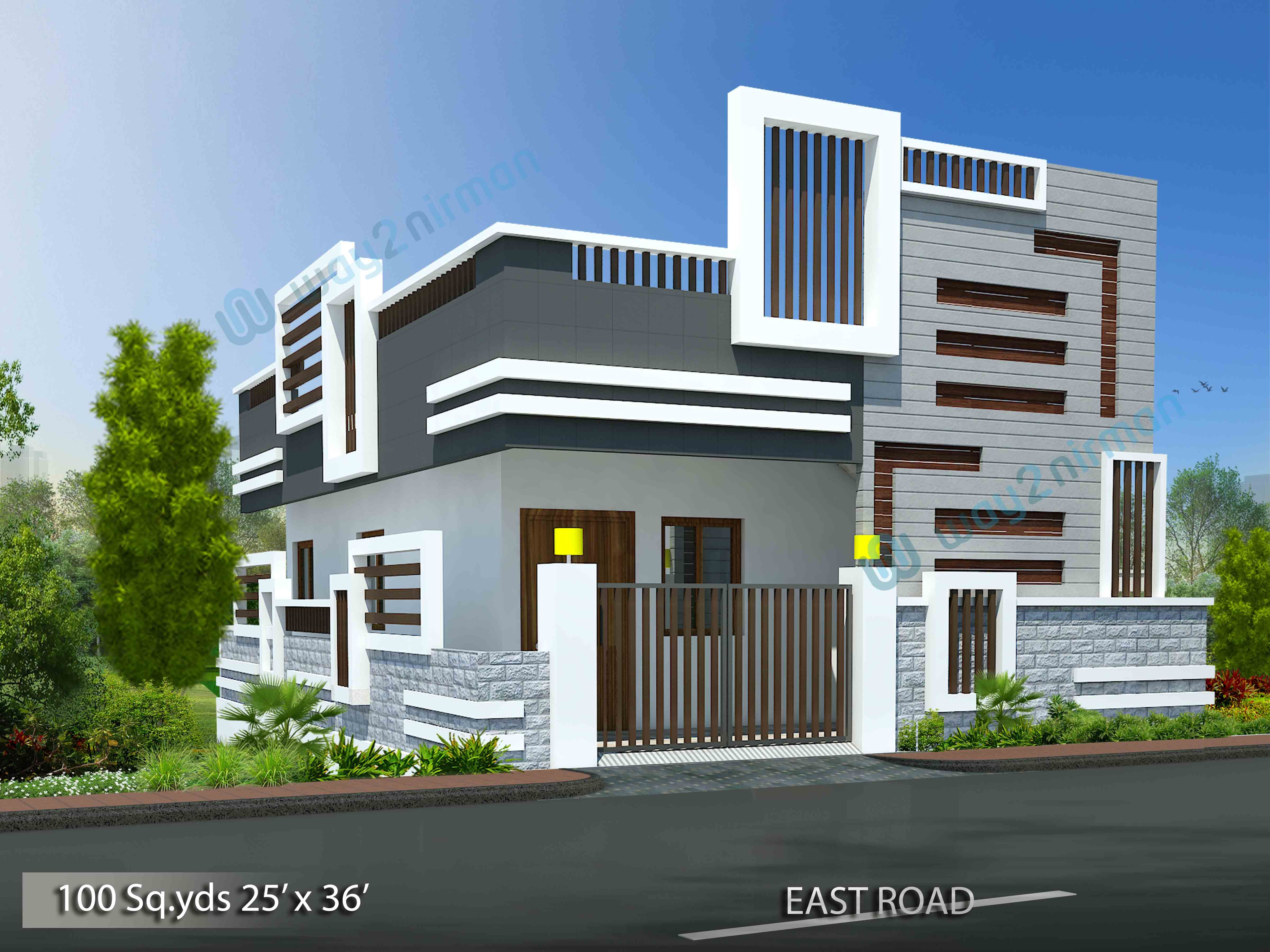 100-sq.yds@25x36-sq.ft-north-face-house-2bhk-elevation ...