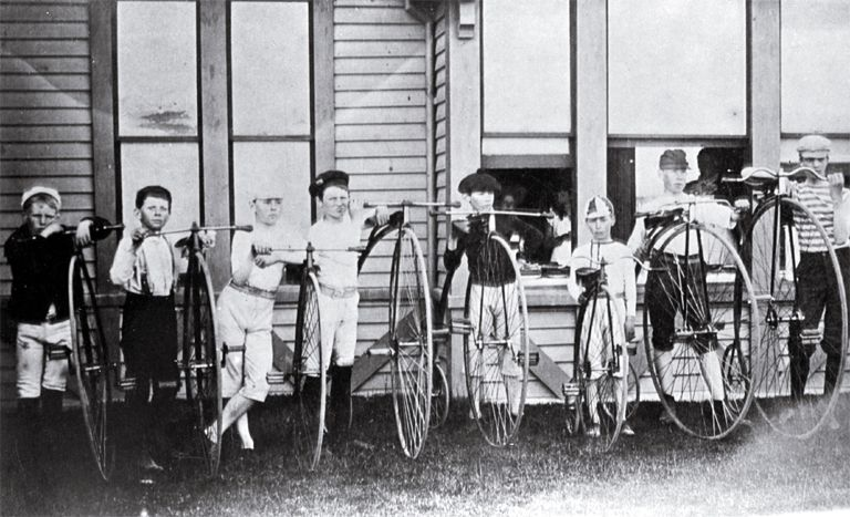 Boys with cycles