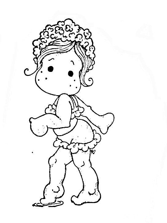 Digital Stamp Girl Desenhos Para Pintar Desenhos Para Colorir E