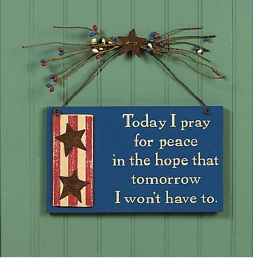 Americana Wall Decor Plaques Signs Patriotic Pray For Peace Americana Wall Decoration W Stars