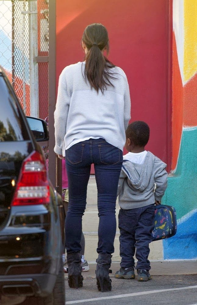 Sandra Bullock was spotted dropping off Louis at school in Los Angeles