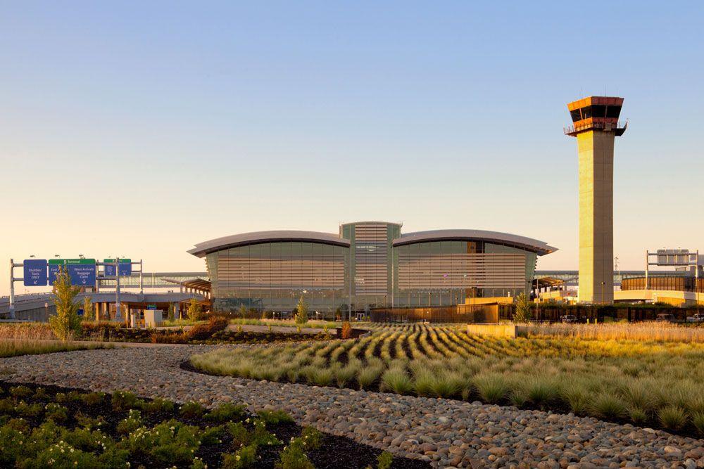 Sacramento International Airport Fentress Architects Corgan Airport Control Tower California Travel Airport