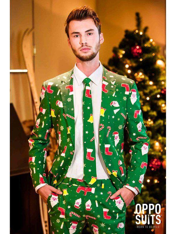 Vestito da Uomo Ugly Christmas VERDI SUIT-COSTUME DA NATALE Maglione