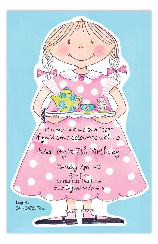 Sweet Tea Girl Invitation Sweet tea, Tea parties and Girl birthday