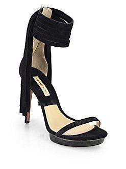 Michael Kors - Daphne Suede Platform Sandals   FW 2014   cynthia reccord