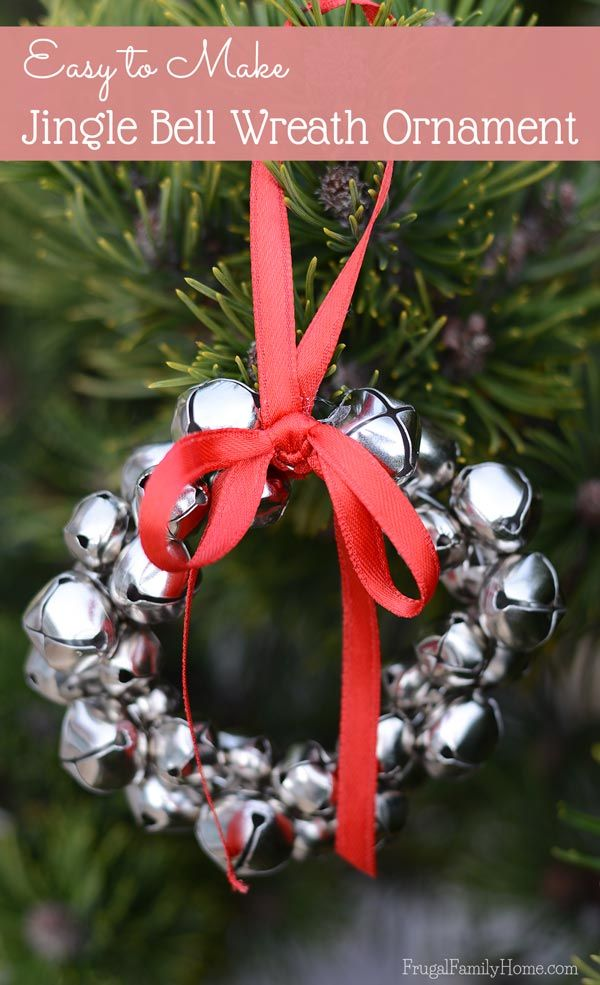 Easy To Make Jingle Bell Wreath Ornaments Christmas Ornament Crafts Kids Christmas Ornaments Christmas Ornaments To Make
