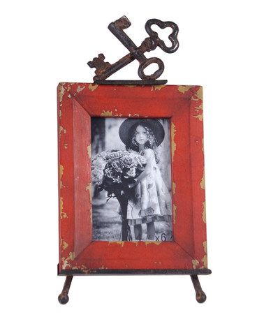 Take a look at this Red & Brown Easel Picture Frame by Wilco on #zulily today!