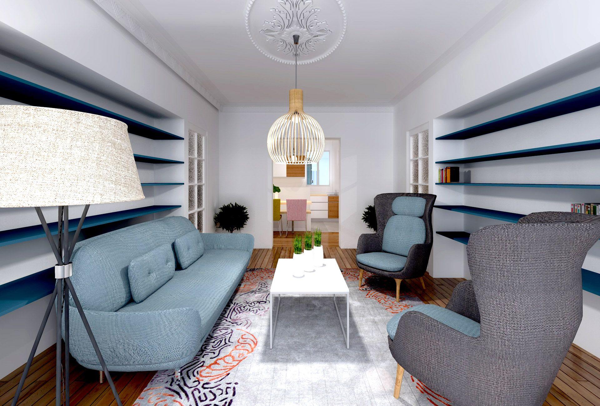 Cuisine Américaine Style Année 50 appartement art deco amenagement salon ambiance annee 50