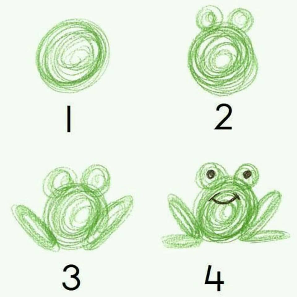 How to draw a frog? A snail? A bee? And some other animals. | Simply ...