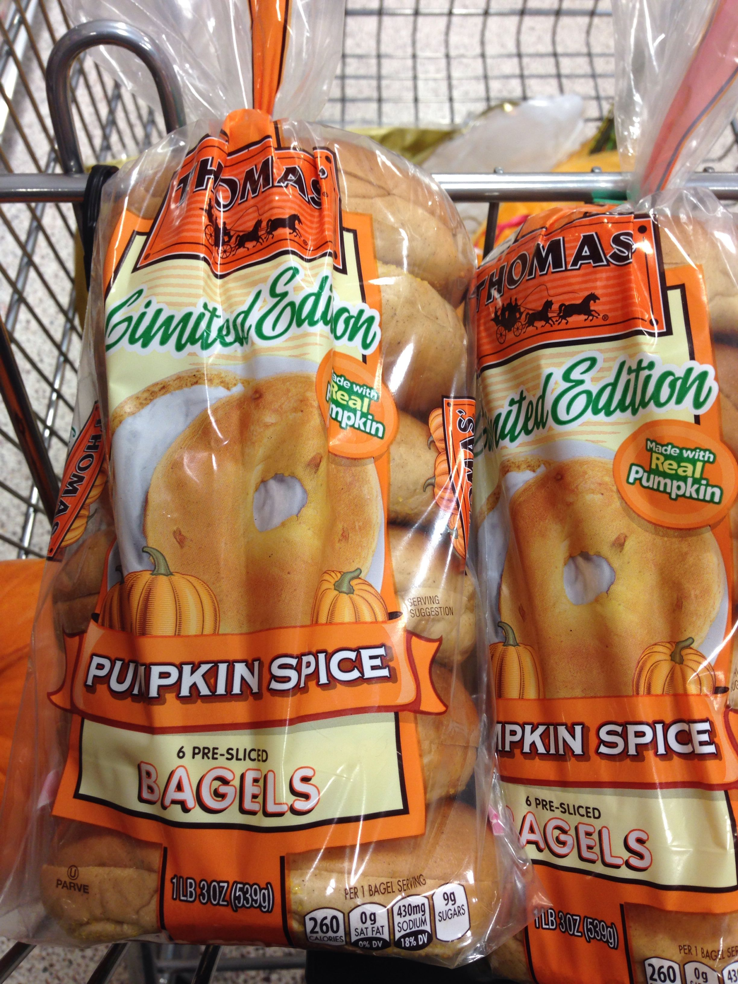 Thomas Pumpkin Spice Bagels. These need to be out all year long