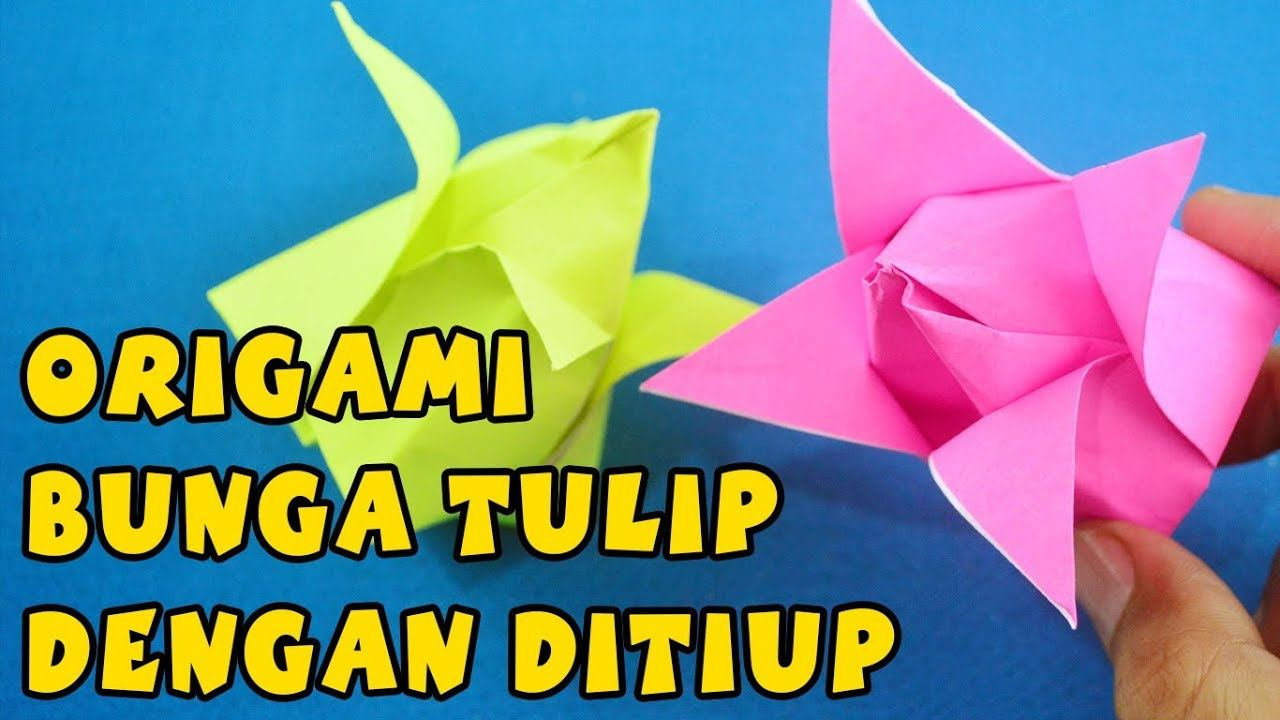 Origami tulips -- very easy, cute on cards #artprojects | Spring ... | 720x1280