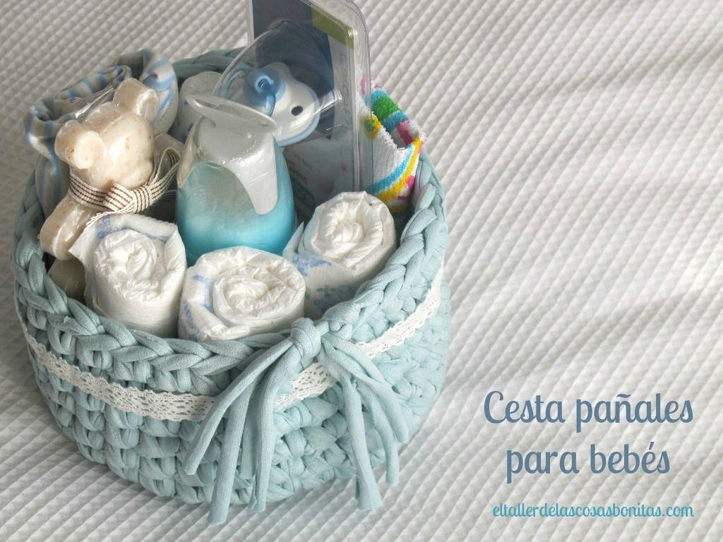 Cesta pañales para bebés * Trapillo * Baby | Craft & Handmade ...
