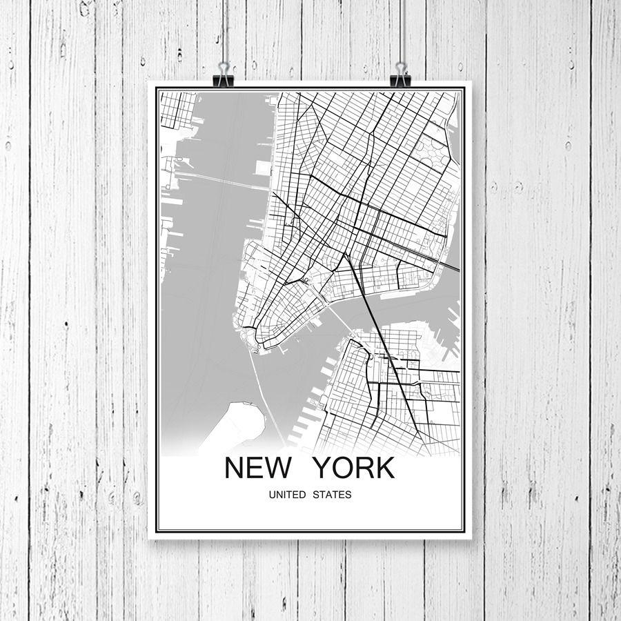 MOSKWA ROSJA Miasta Mapa Vintage Papier Powlekany Plakat Streszczenie Wydruku Obraz Bar Cafe Pub Salon Malarstwo Cienne 42x30 Cm W Mi