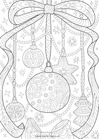 Christmas Coloring Cards Bookmarks And Pages Free Downloads At Activity Village Christmas Coloring Sheets Detailed Coloring Pages Christmas Coloring Pages