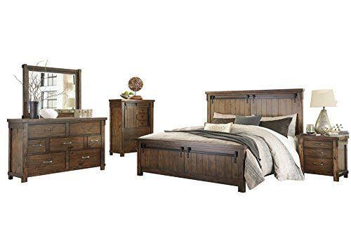 Ashley Lakeleigh 5pc Bedroom Set Cal King Panel Bed Dresser Mirror One Nightstand Che Ashley