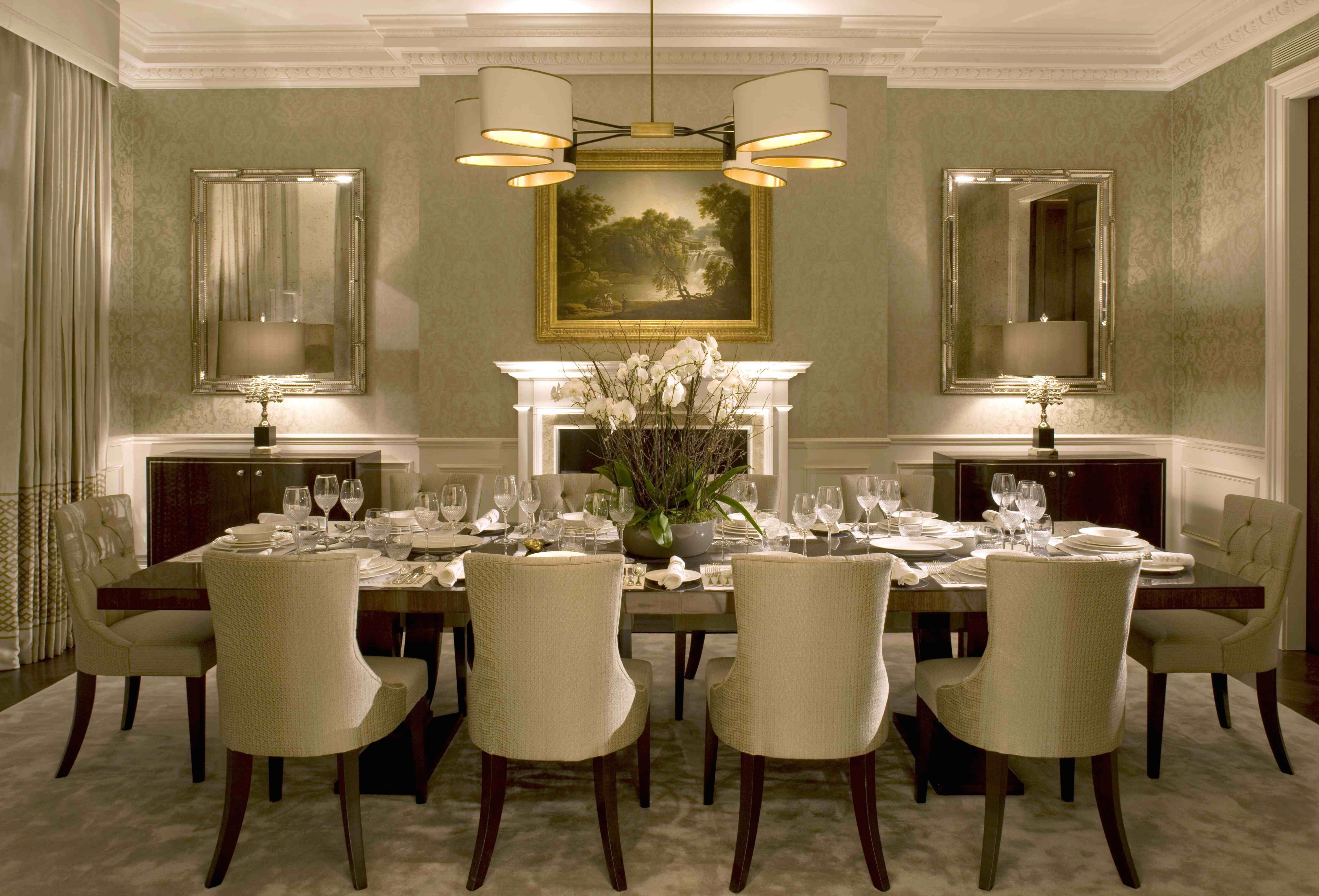 Alluring Formal Dining Room Ideas Your Residence Idea Small Formal Dining Room Decorating Dining Room Table Centerpieces Modern Dining Room Luxury Dining Room