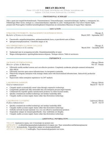 Out of the Box - Free Resume Template by Hloom Resume - sample professional resume format
